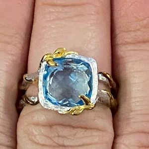 Stunning ring blue and silver by Rebecca hook